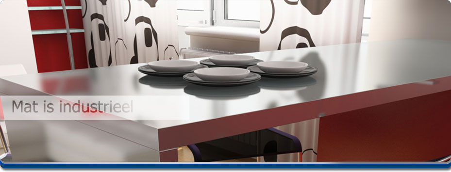 Rvs Keukenblad : Keukenblad RVS: rvs mat finish geborsteld
